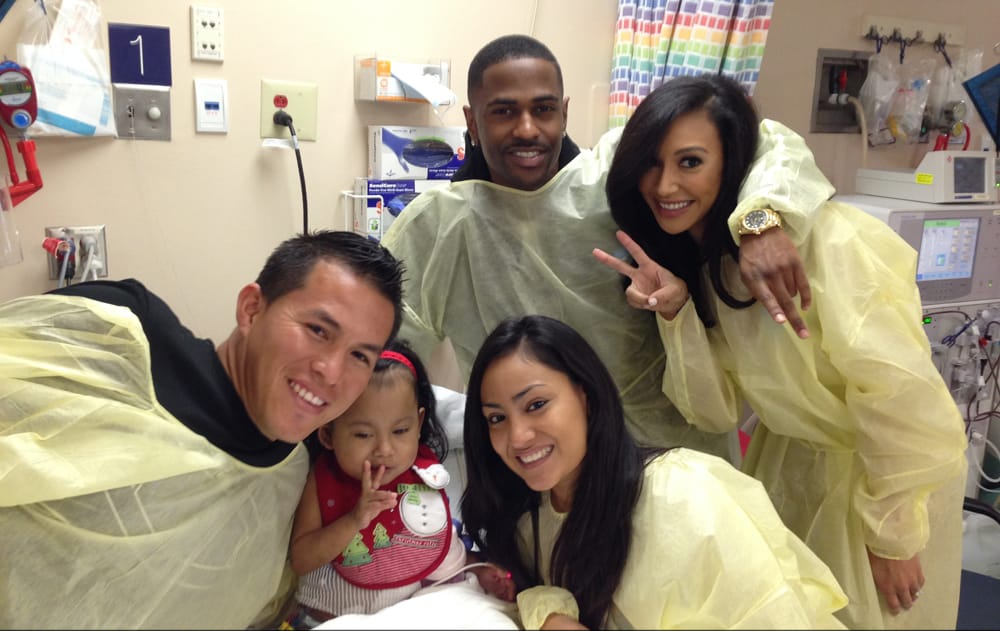 Naya Rivera and Sean Children's hospital
