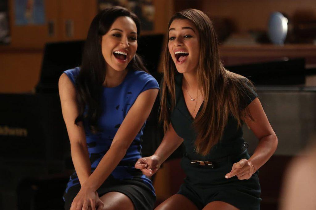 Naya Rivera Glee and Lea Michele